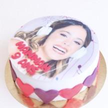 Gâteau Violetta - Coeurs