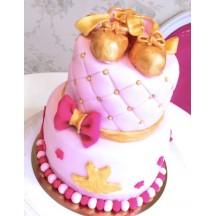 Gâteau Danse classique - Or