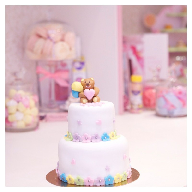 Gâteau Baby Shower Ourson Ballons 2