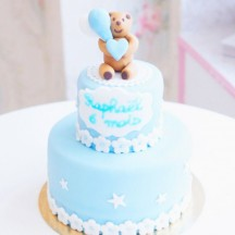Gâteau Baby Shower Ourson Ballons 3