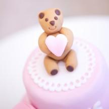 Gâteau Baby Shower Ourson Coeur 4