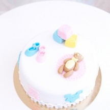 Gâteau Baby Shower Ourson Dodo - Mixte