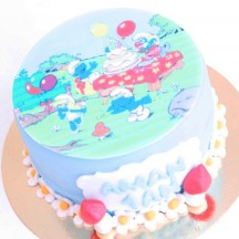 Gâteau Schtroumph