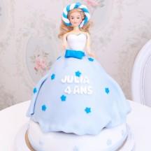 Gâteau Princesse Etoiles bleues