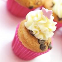 Cupcake Pépites de chocolat noir, chocolat blanc