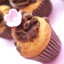 Cupcake Pépites de chocolat au lait, chocolat au lait