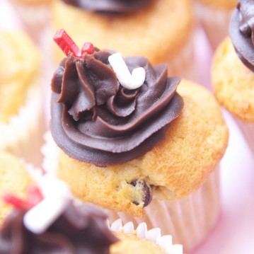 Cupcake Banane Chocolat noir