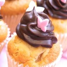 Cupcake Poire Chocolat noir