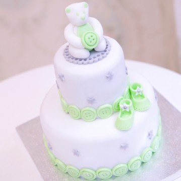 Gâteau Baby Shower Ourson Dé