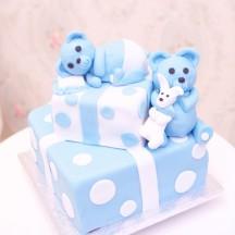 Gâteau Cadeaux & Oursons - Garçon
