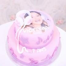 Gâteau Violetta GM - Casque de musique
