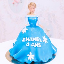 Gâteau Princesse Reine des neiges