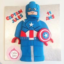 Gâteau Lego - Captain America