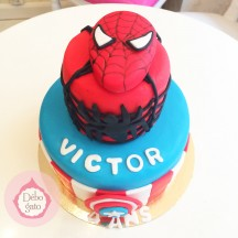 Gâteau Spiderman & Captain America