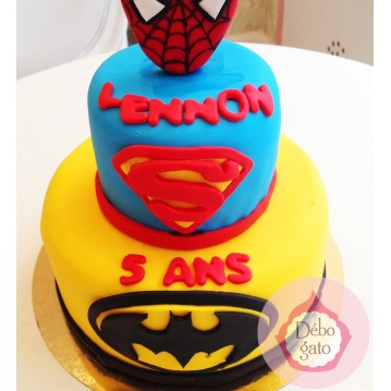 Gâteau Batman, Superman & Spiderman