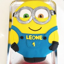 Gâteau Minion à plat