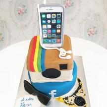 Gâteau Réseau sociaux