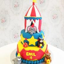 Gâteau Cirque animaux