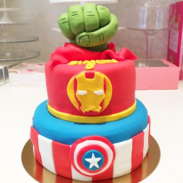 Gâteau Hulk, Iron Man et Captain America