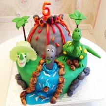 Gâteau Dinosaures Sculpture