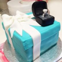 Gâteau bague de fiançailles