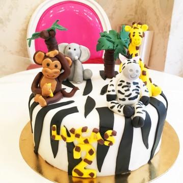 Gâteau Jungle Zebré