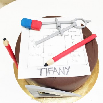Gâteau architecte