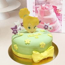 Gâteau Fée Clochette visage