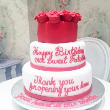 Gâteau Coeur et Fleurs