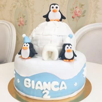 Gâteau Pingouins sur banquise