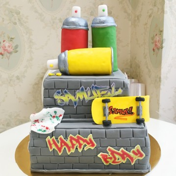 Gâteau Street Art