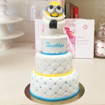 Gâteau Minion Bapteme