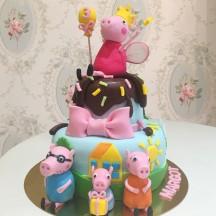 Gâteau Peppa Pig et sa famille