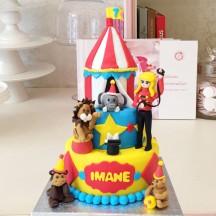 Gâteau Cirque Dompteuse