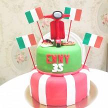 Gâteau Italie Vespa
