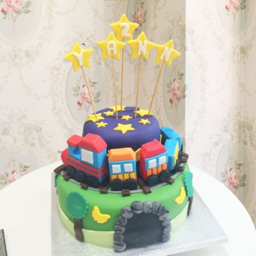 Gâteau Train Tchou-Tchou