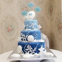 Gâteau Plage et Coquillage