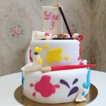 Gâteau Peinture