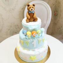 Gâteau Nounours et Ballons