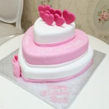 Gâteau Pièce Montée Coeurs Sculptés