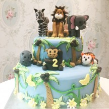 Gâteau Animaux de la jungle