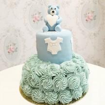 Gâteau Baby Shower Ourson et Rosace