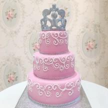 Gâteau Couronne et Strass GM