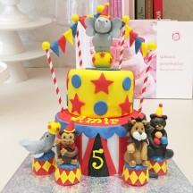 Gâteau Cirque Animaux 2
