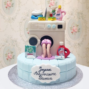 Gâteau Machine à Laver et Ménage