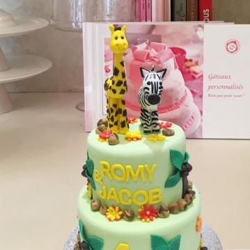 Gâteau Girafe et Zebre