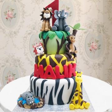 Gâteau Animaux de la jungle 2