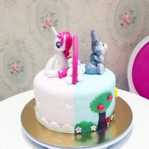 Gâteau Panpan et Licorne