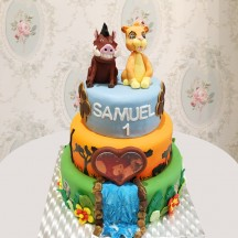 Gâteau Simba et Pumba