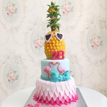 Gâteau Flamand Rose et Ananas